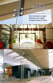 Stainless Steel Partition Point Fixing Curtain Wall Architectural Glass Walls Fitting