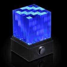 light up bluetooth speaker supernova light cube led bluetooth speaker thinkgeek