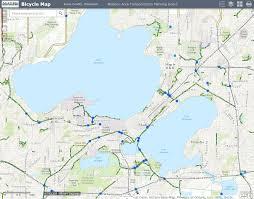 Madison Map Dane County Bicycle Map Madison Area Regional Transportation