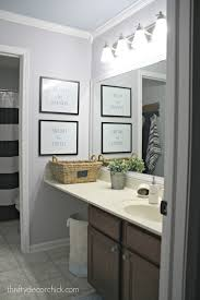 Easy Bathroom Updates by A Simple Bathroom Makeover Paint Is The Bomb From Thrifty Decor