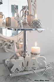 my white and silver christmas decoration home white home blog