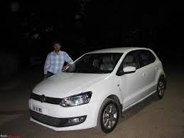 my german dream white vw polo 1 6l highline team bhp
