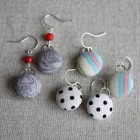diy button earrings diy fabric button earrings by cornwell