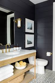 Bathroom Art Ideas For Walls Classic Black And White Bathroom Black White Glossy Finished Wall