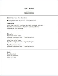 exles of a simple resume resume original no experience http topresume info resume