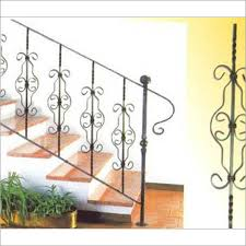 Iron Grill Design For Stairs Modern Staircase Photostock Image Featurepics Hardwood Stairs