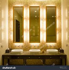 bathrooms design light up mirror makeup stand with lights and