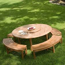Plans For Wood Patio Table by Best 25 Round Picnic Table Ideas On Pinterest Picnic Tables