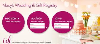 wedding registry for stores macys wedding registry