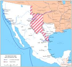Mexico Map 1821 by Gateway South The Campaign For Monterrey