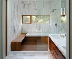 Carrara Marble Bathroom Countertops Modern Master Bathroom With European Cabinets U0026 Tiled Wall
