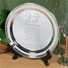 anniversary plates personalized personalized 25th wedding anniversary gifts engraved plates
