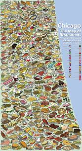 Map Of Chicago Illinois by Chicago Map Of Restaurants Very Busy But Cool Infographic