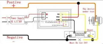 digital ammeter voltmeter with shunt wiring