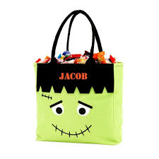 personalized trick or treat bags personalized bag trick or treat sack gifts happen here