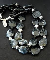 sterling silver quartz necklace images 105 best bj obsidian snowflake images beading jpg
