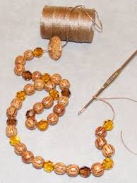 beading cord necklace images Crochet bead necklace jewelry making instructions jpg