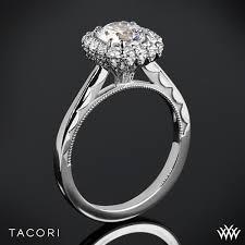 tacori halo engagement rings tacori 55 2cu bloom halo solitaire engagement ring 3039
