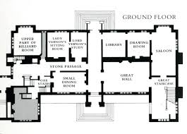 home design sudeley hall plan of the ground floor house plans