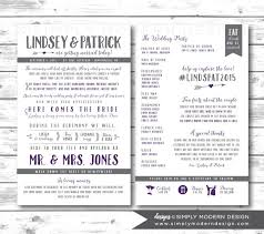 printed wedding programs rustic sided wedding program arrows wedding program fan