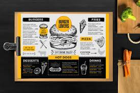 burger menu template for restaurant creative and modern food menu