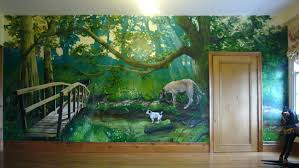 a winnie the pooh nursery muralpainting outside wall murals wall mural ideas naturepainting murals type of paint painting