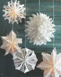 1pc big white thick speciality paper snowflake lanterns cut out
