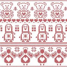 scandinavian vintage nordic seamless pattern with
