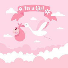 girl baby shower it s a girl baby shower background free vector vectorkh