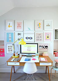 my colourful workplace wall gallery and a collaboration with pinch