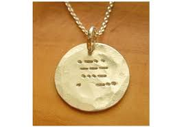 morse code necklace personalized personalized always gold morse code necklace personalized