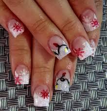 Christmas Light Nails by Snowflake Christmas Lights Nail Art Like My Fb Www Facebook Com