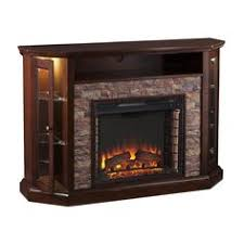 corner tv cabinet with electric fireplace mulberry corner audio tv stand wi fireplace features a built in