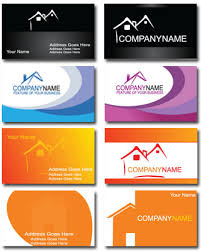 Credit Card Business Cards Designs Real Estate Business Card Vectors