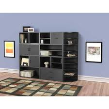 storage cube shelves foremost 15 in black shelf cube 327306 the home depot