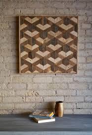 wood wall decor stunning reclaimed lath pattern geometric home