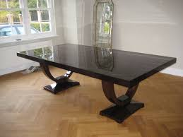 American Black Walnut  Seater Dining Table With A Full Gloss - Black dining table for 10