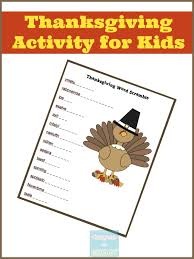 keep busy in november thanksgiving word scramble