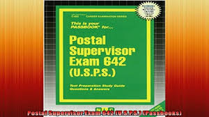 free download postal supervisor exam 642 usps passbooks download