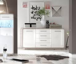 kommode weiãÿ hochglanz design sideboard raimondo 165x84 cm weiss hochglanz sandeiche dekor