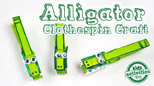 clothespin craft for kids make a chomping alligator youtube