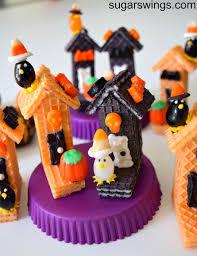 sugar swings serve some halloween sugar wafer mini houses