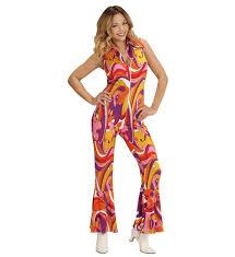 hippie jumpsuit groovy 70 s jumpsuit orchids costume 60s 70s hippie