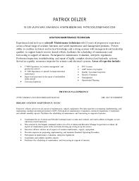maintenance technician resume aviation maintenance technician resume delzer
