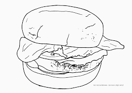 hamburger coloring pages getcoloringpages com
