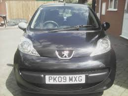 peugeot ad peugeot 107 sport 1 0l 2009 black 2 lady owners from new