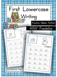 handwriting free practice makes perfect lowercase letters nsw