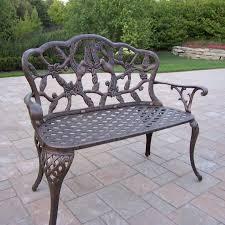 oakland living hummingbird outdoor 44 in metal loveseat bench