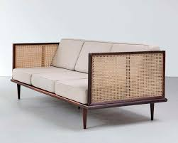 martin eisler jacaranda and cane sofa for forma 1950s couched