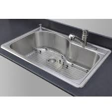 sinkware 18 offset single bowl topmount stainless
